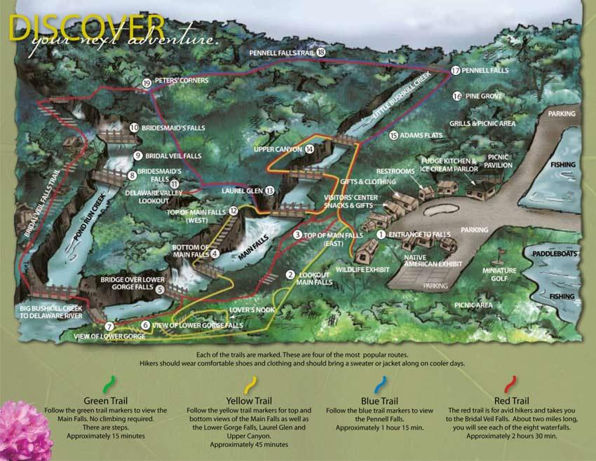 Trails Pocono Mountains Bushkill Falls Pa